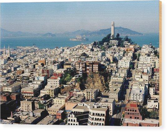Alcatraz Wood Print by Trent Mallett
