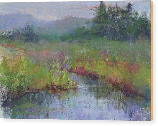 Alder Meadow Morning Wood Print