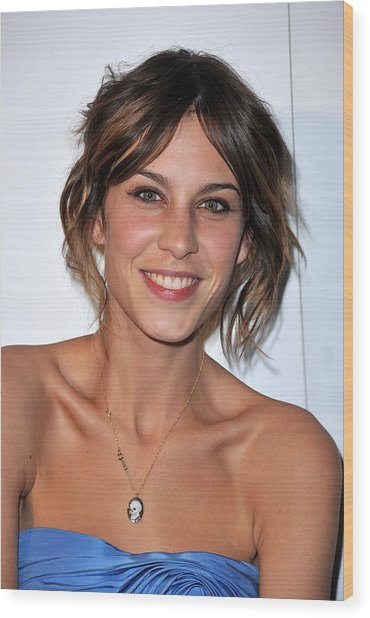 Alexa Chung At Arrivals For The Whitney Wood Print by Everett