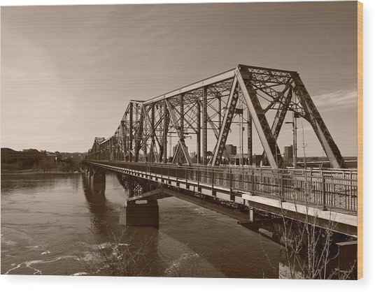 Alexandria Bridge Wood Print