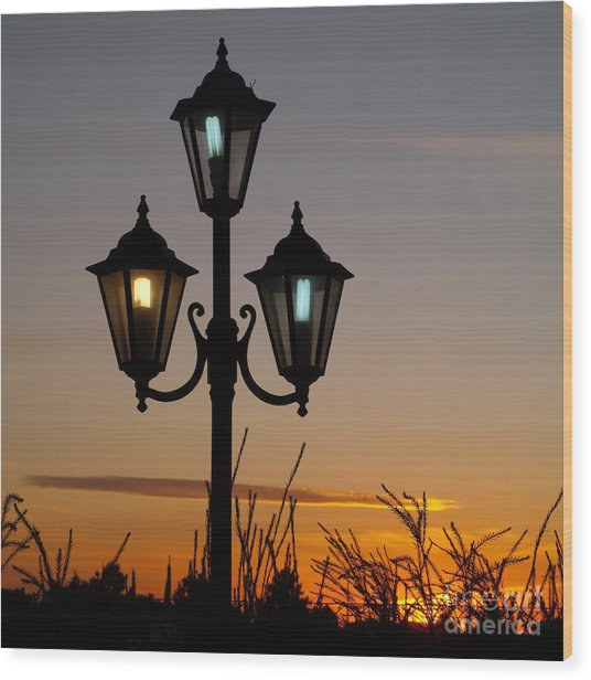 Algarve Lamps Wood Print