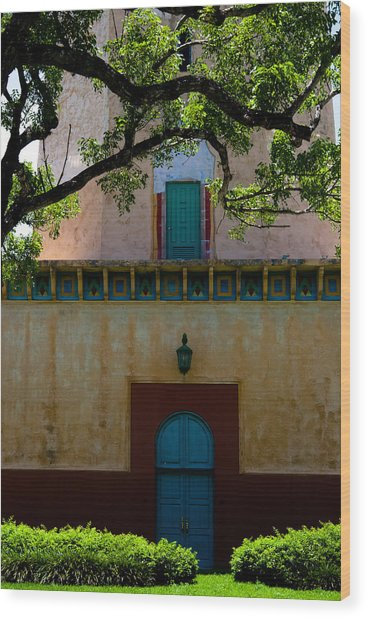 Alhambra Water Tower Doors Wood Print