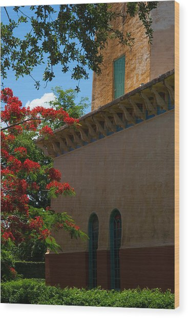 Alhambra Water Tower Windows And Door Wood Print