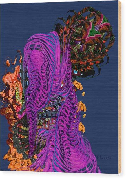 Alien Encounter Wood Print