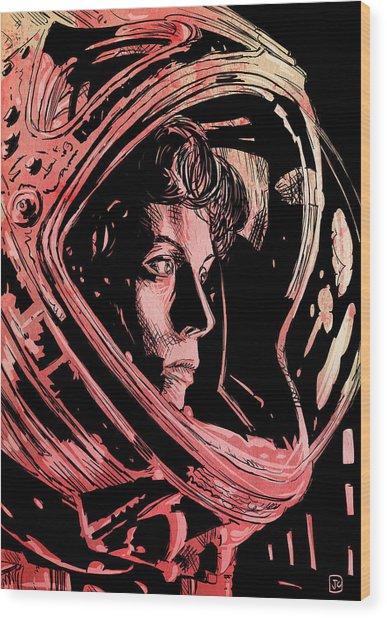 Alien Sigourney Weaver Wood Print