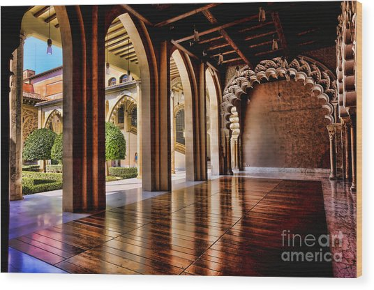 Aljaferia Palace Zaragoza Colour II Wood Print