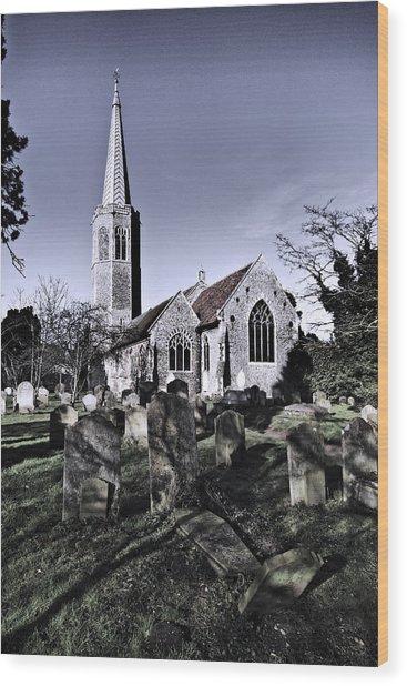 All Saints Wickham Market Wood Print by Darren Burroughs