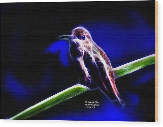 Allens Hummingbird - Fractal Wood Print