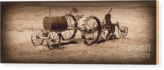 Almost A Tractor Wood Print