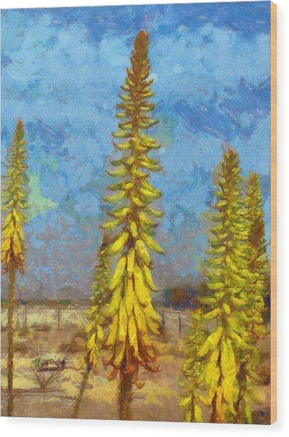Aloe Vera Flowers Wood Print