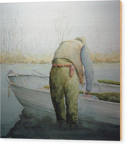 Alone 11312 Wood Print