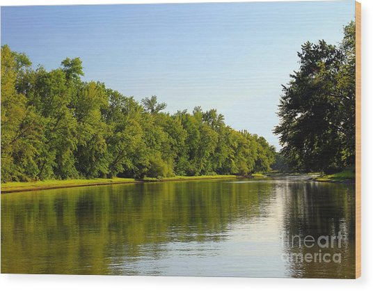 Along The Canal Wood Print by Sophie Vigneault