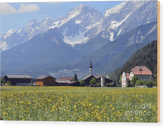Alpine Mood Wood Print