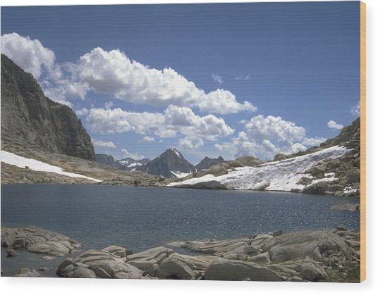 Alpine Tarn Wood Print