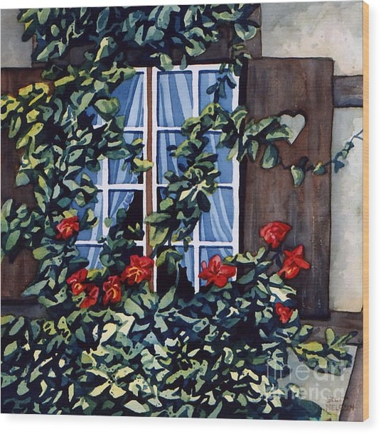 Alsace Window Wood Print