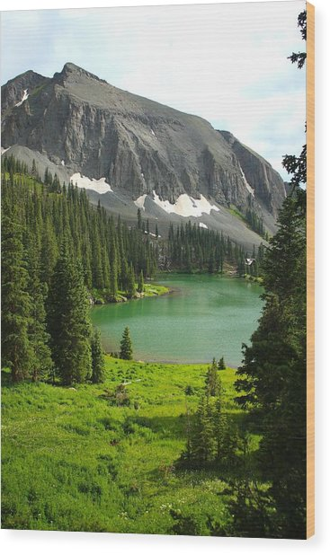Alta Lake Colorado Wood Print