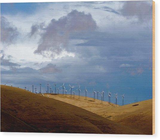 Altamont Pass California Wood Print