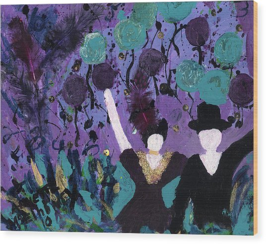 Althea Dances With Ned Wood Print
