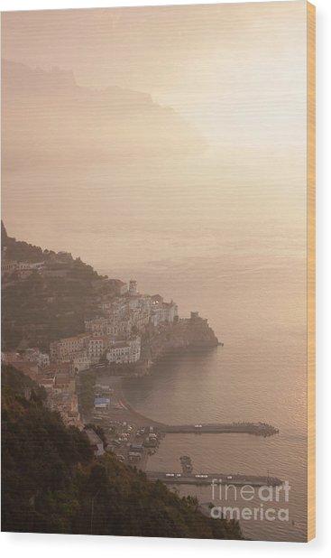 Amalfi At Sunrise Wood Print by Chris Hill