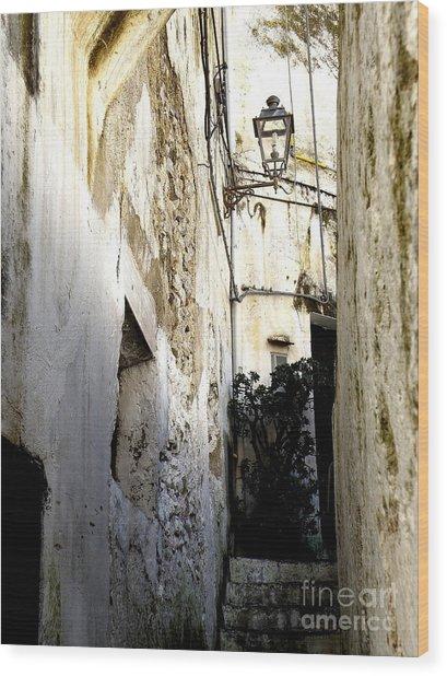Amalfi Street Wood Print