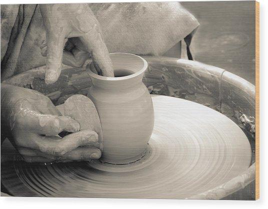 Amazing Hands Vi Wood Print by Emanuel Tanjala
