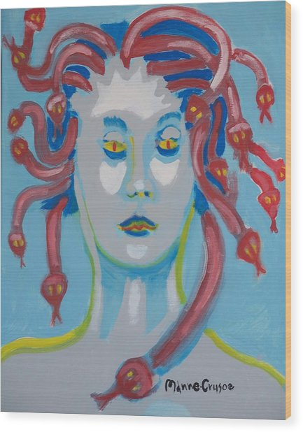 Americaine Medusa Wood Print by Jay Manne-Crusoe