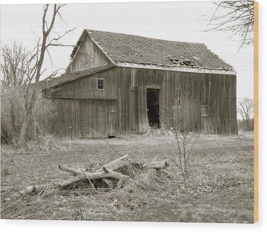American Barn Wood Print
