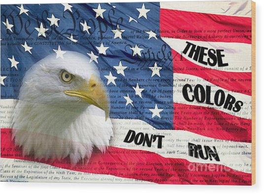 American Pride Wood Print by Joanne Kocwin