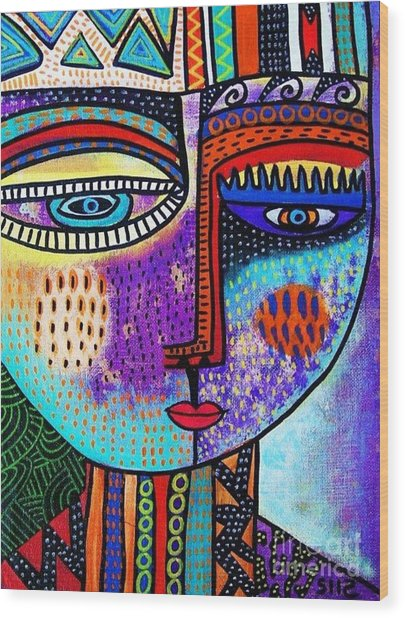 Amethyst Gem Goddess Wood Print