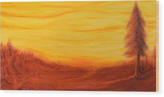 Amoreena's Tree Wood Print
