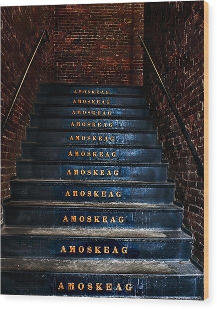 Amoskeag Wood Print by John Sotiriou