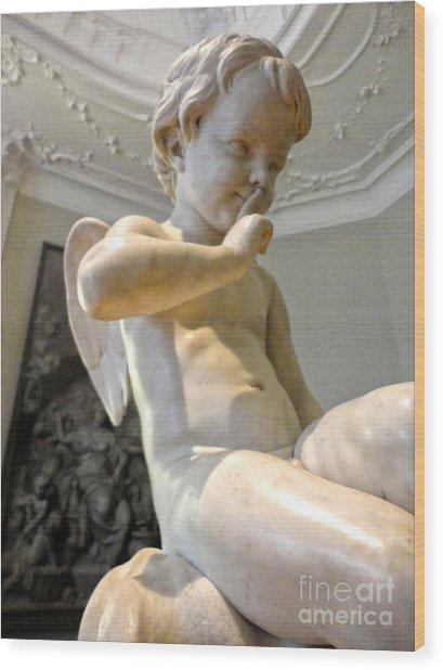 Amsterdam - Rijksmuseum Cherub - 01 Wood Print by Gregory Dyer