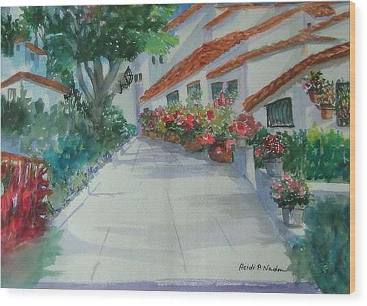 An Andalucian Street Wood Print