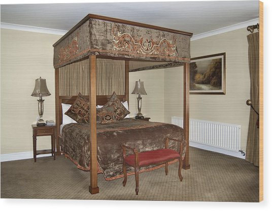 An Antique Style Four Poster Bed Wood Print by Will Burwell