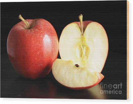 An Apple A Day... Wood Print by Nancy Greenland