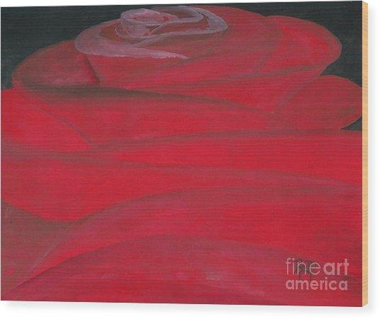 An Odd Rose... Wood Print by Robert Meszaros
