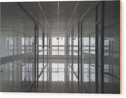 An Office Interior. Modern Wood Print by Guang Ho Zhu