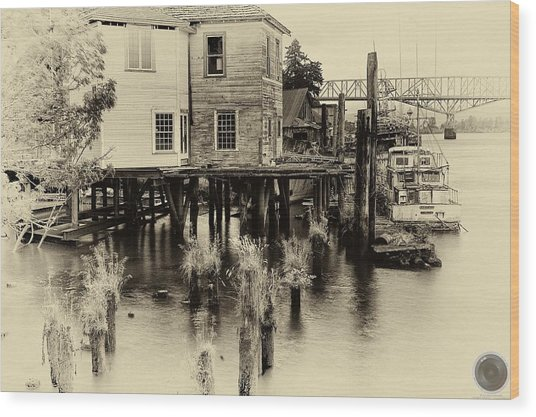 An Old Dock Wood Print