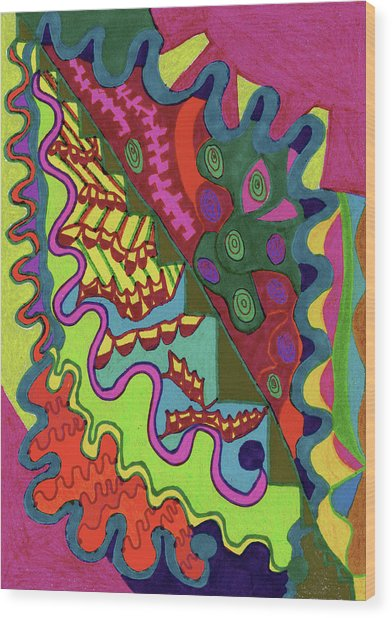 An Unfamiliar Comfort Wood Print by Janice Lee
