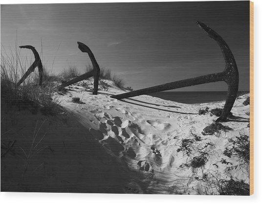 Anchor Beach 12 Wood Print by Jez C Self
