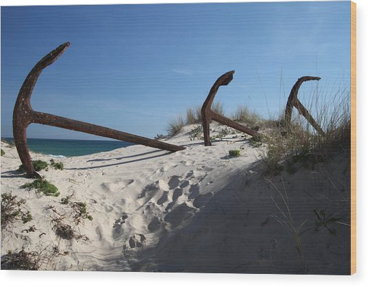 Anchor Beach 13 Wood Print by Jez C Self