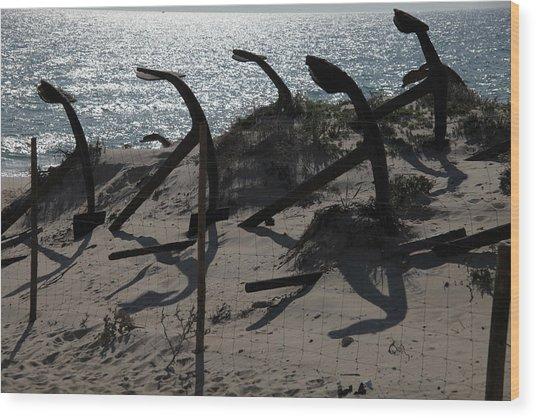 Anchor Beach 15 Wood Print by Jez C Self