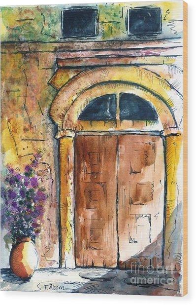 Ancient Door Of Greece Wood Print