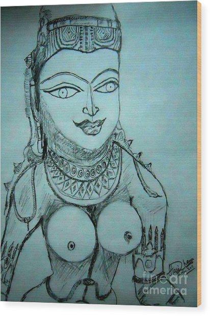 Ancient Indian Sculpture Wood Print by Hari Om Prakash