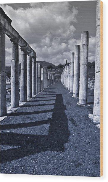 Ancient Messini Greece Wood Print