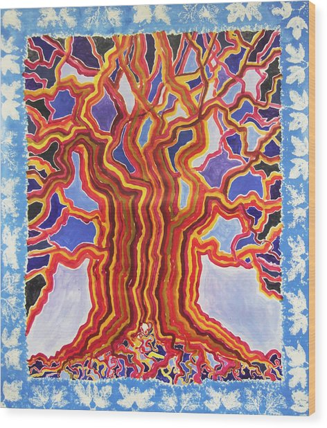 Ancient Walnut Wood Print by Alain Guiguet
