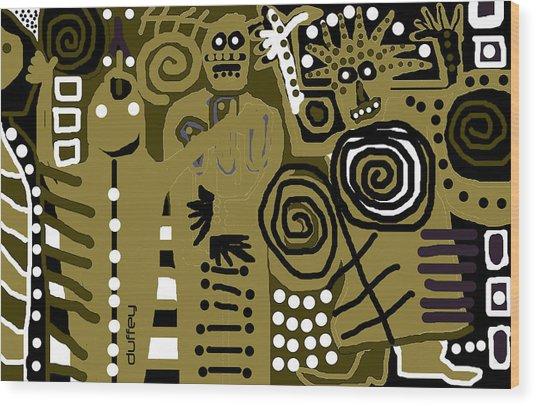 Ancients 1d Wood Print