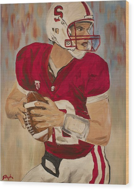 Andrew Luck Wood Print