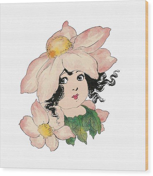 Anemone Or Windflower Wood Print