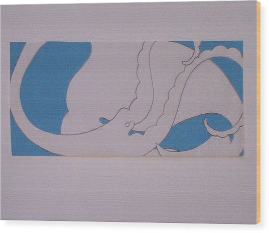 Angel Cloud Wood Print by Lee Thompson